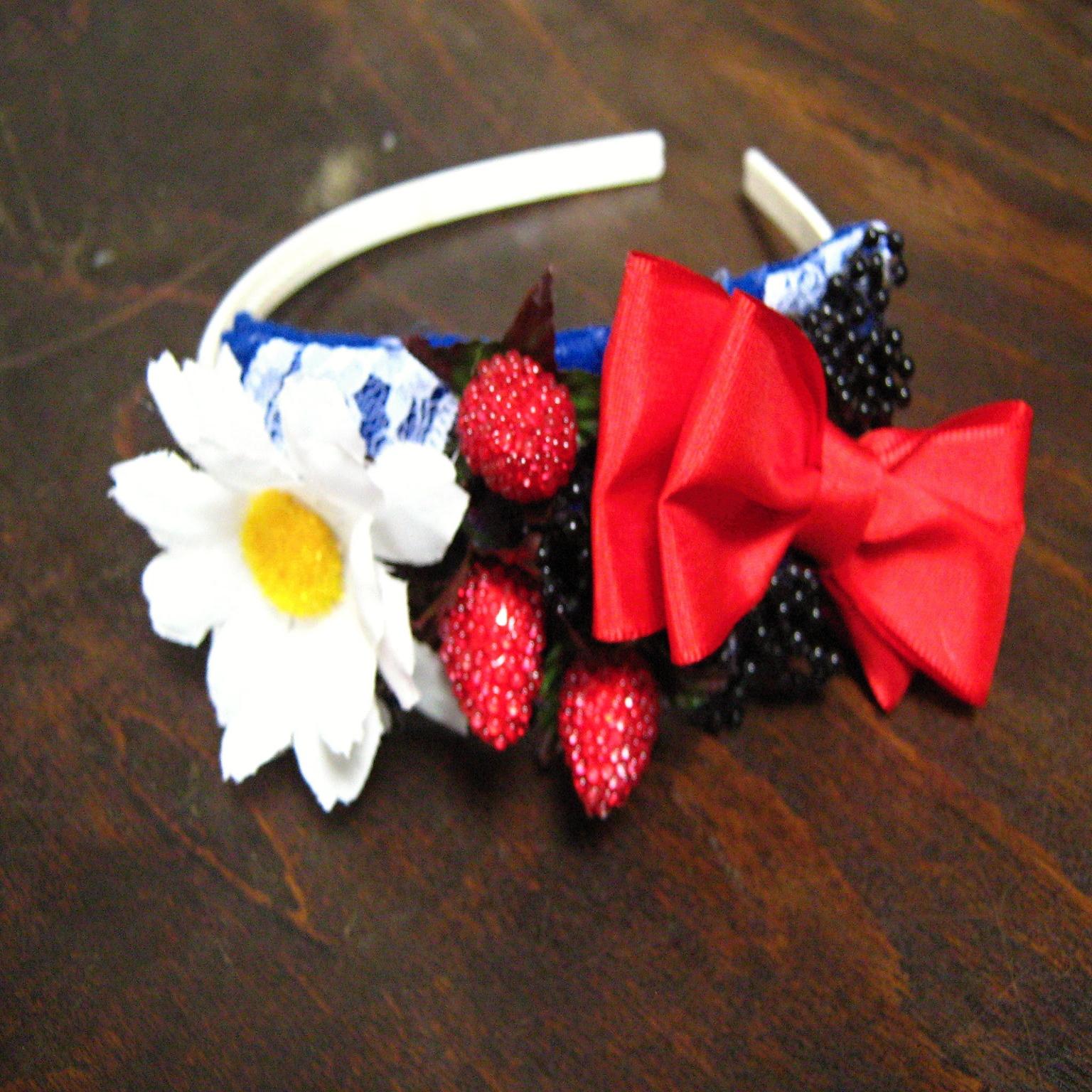 Květinová čelenka s mašlí   Zboží prodejce hippiesky  67c6a57974