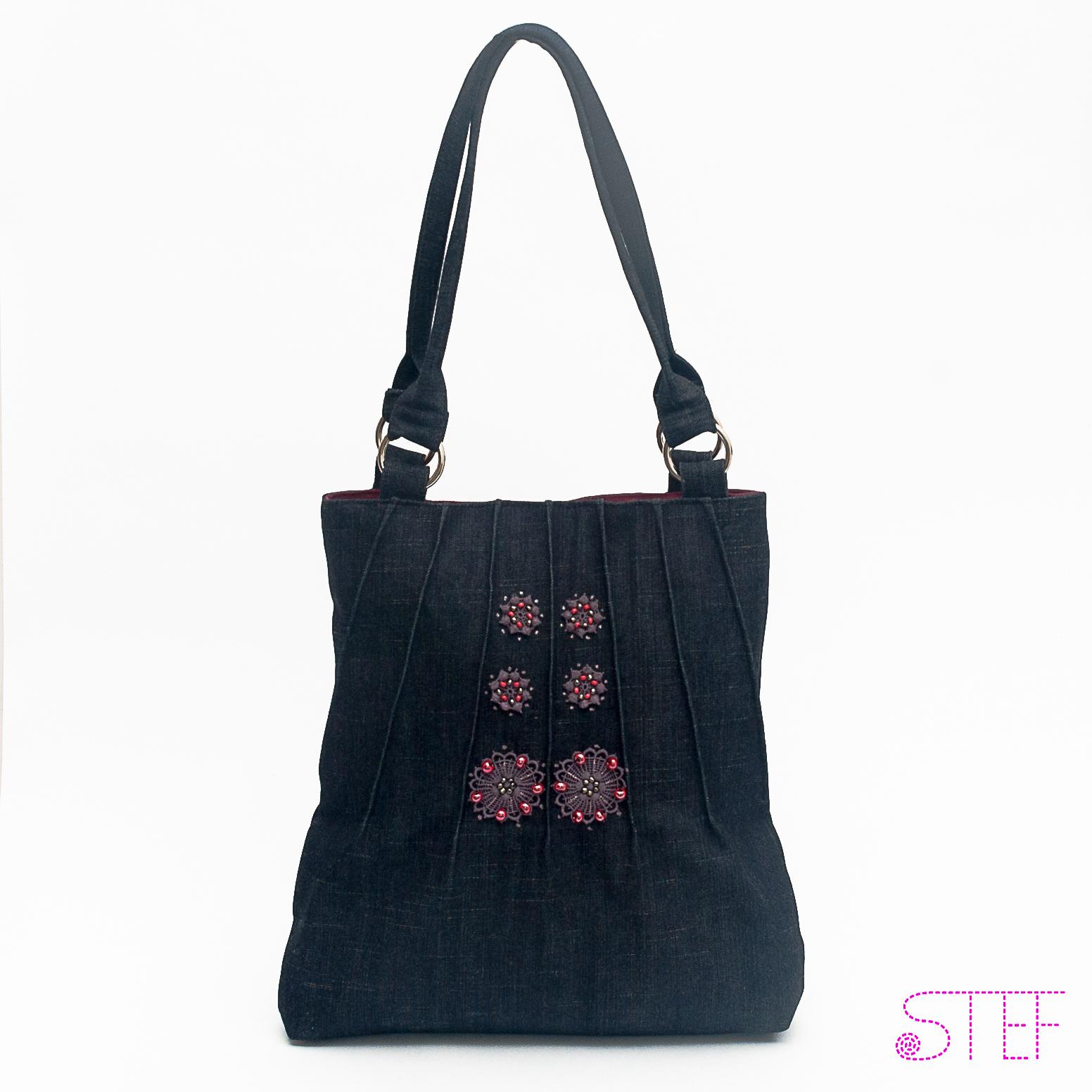 826f6466ad Riflová kabelka s krajkou   Zboží prodejce kabelky