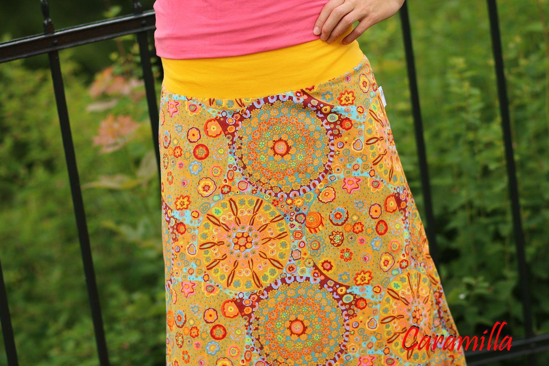Dlouhá sukně velké mandaly HOŘČICE (i těhu)   Zboží prodejce ... f709da69bb