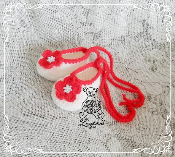 60a6642d5d1 Háčkované bačkůrky pro miminko - návod   Zboží prodejce lumpova ...