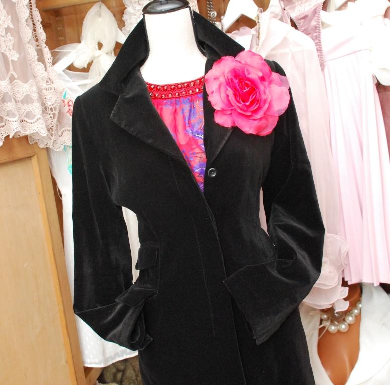 be3001afc68 Černé dlouhé sametové sako lehce propasované   Zboží prodejce ...