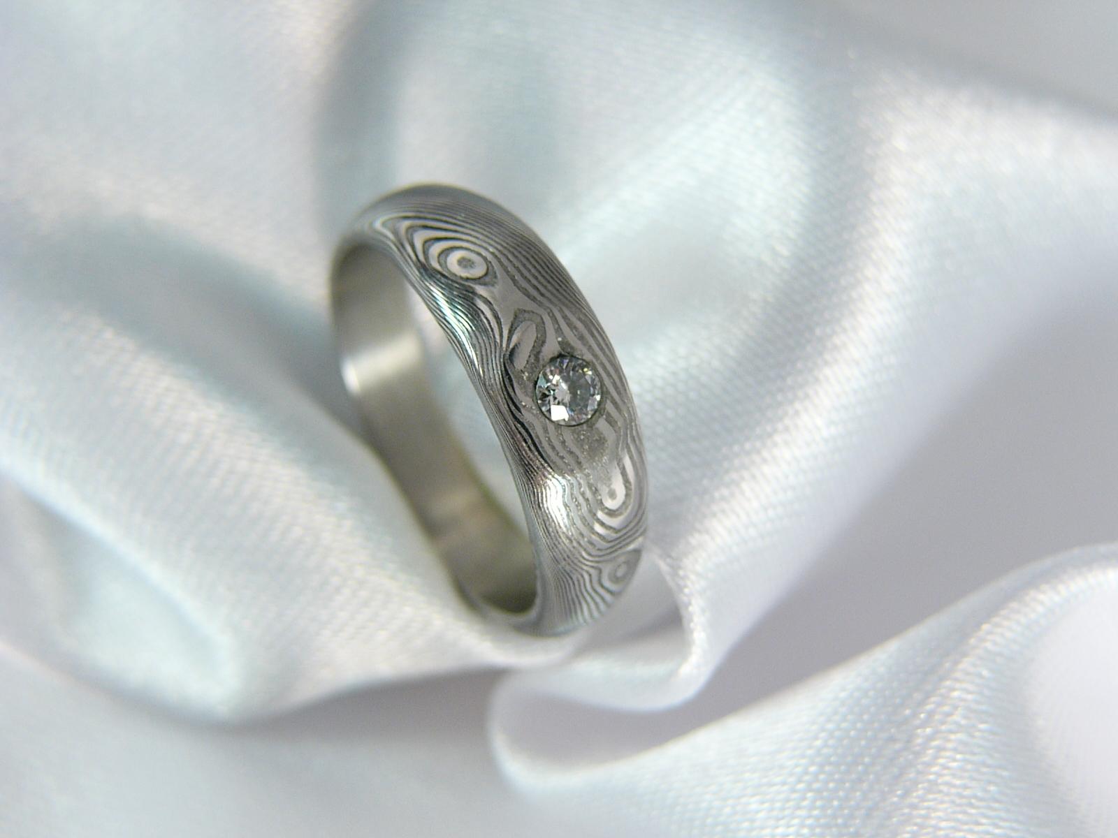 Zásnubní prsten Galadriel z damascénské oceli   Zboží prodejce ... 9c33de0c82