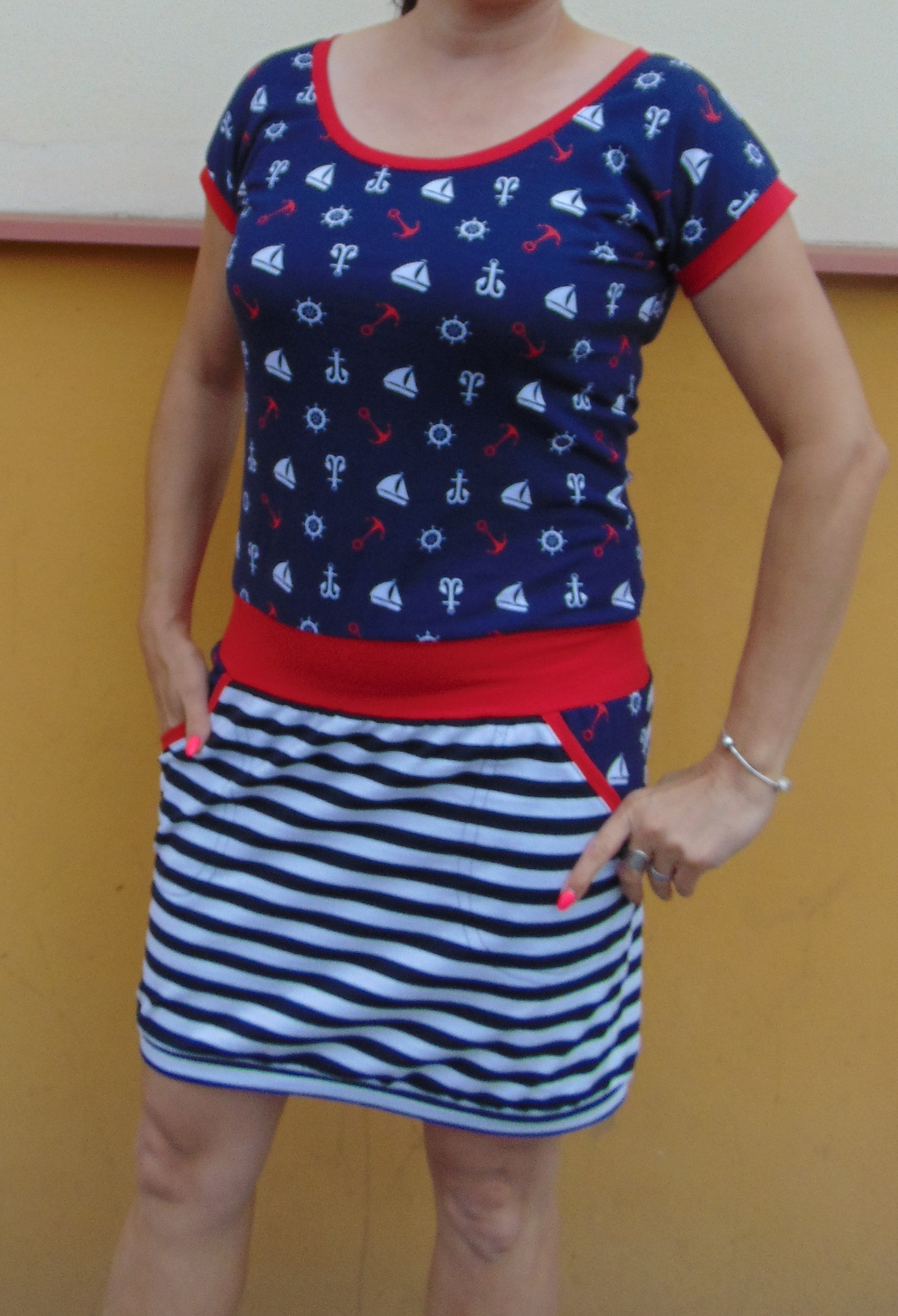 b29ac76039c šaty námořník s lodičkou do lemu   Zboží prodejce Pa-Milada