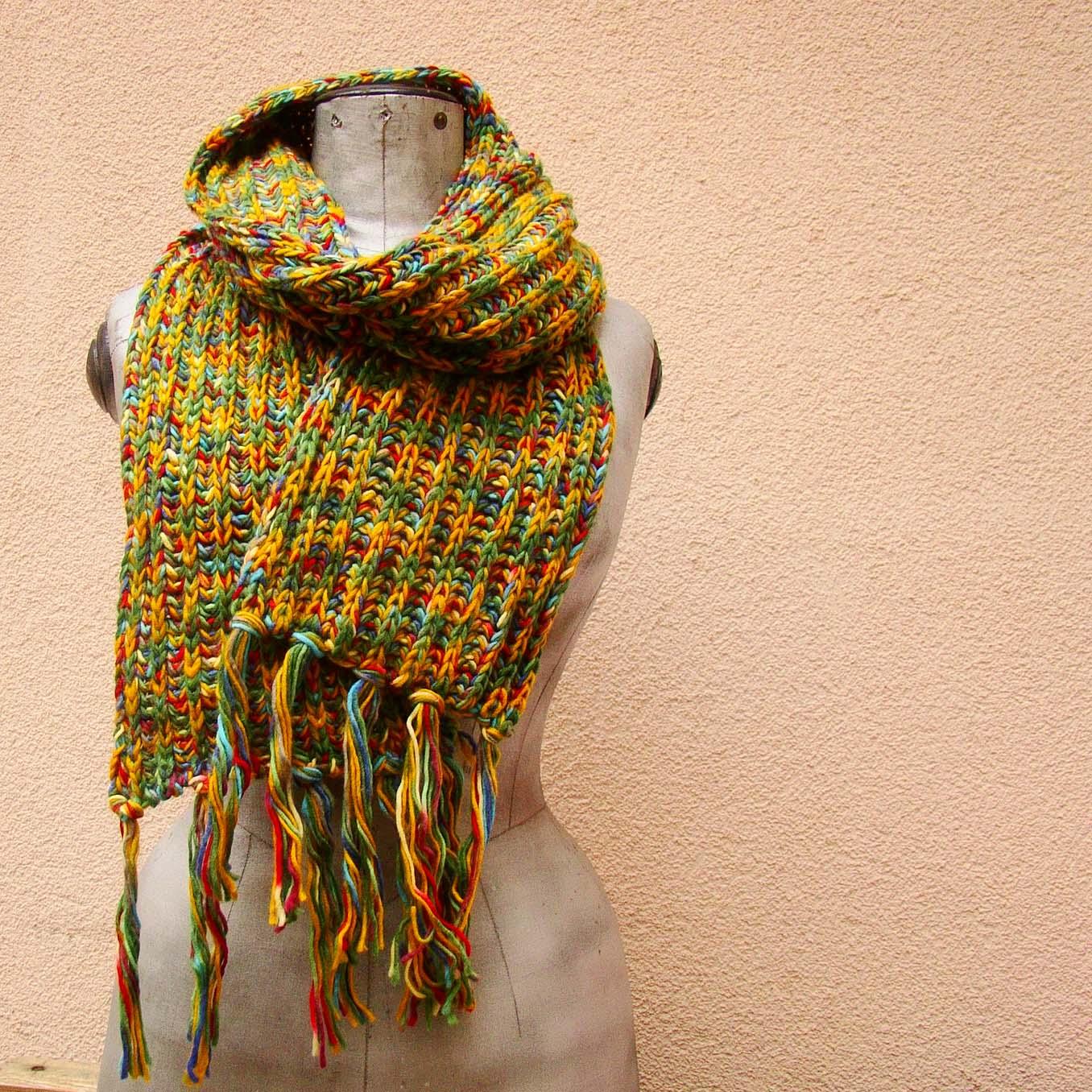 7d41c920e9f pletená melírovaná šála   Zboží prodejce ancovicka-design