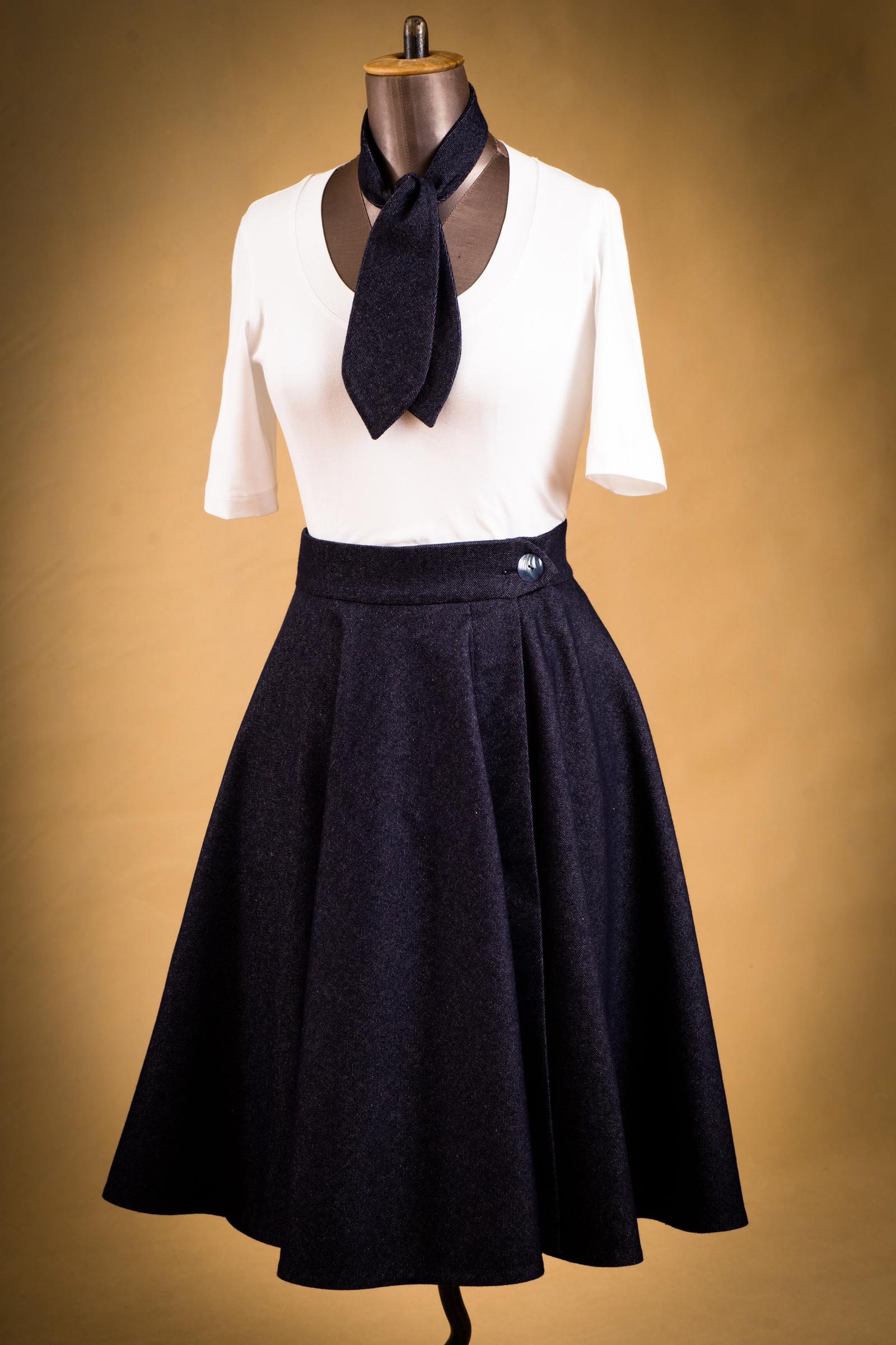 Dámská zavinovací kolová sukně   Zboží prodejce STUDIO 99  611c643e26