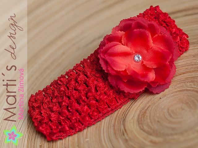7988ee4dfae Čelenka široká s květinou   Zboží prodejce Marti´s design