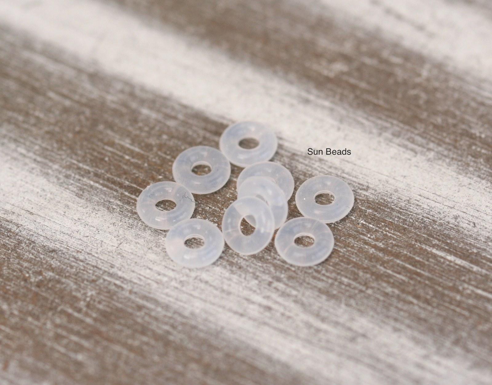Silikonový stoper na náramek (4 ks) (10 ks)   Zboží prodejce Sun Beads  06e3ef77334