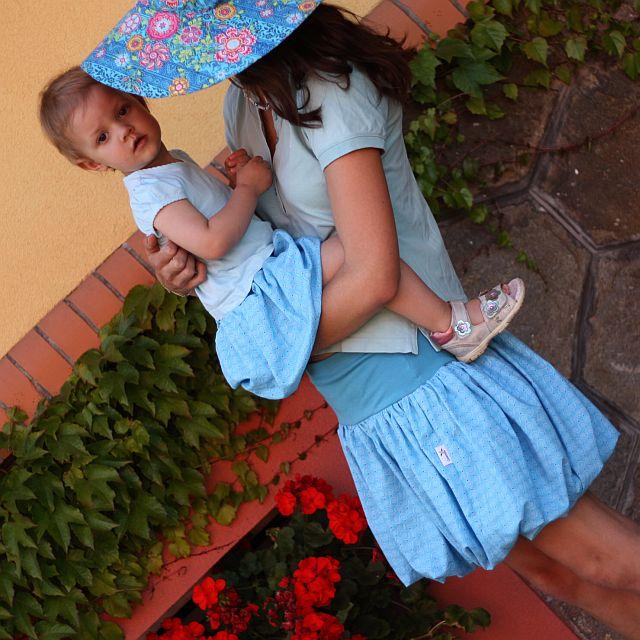 320d7efced26 Modrá balonová sukně (možno též těhotenská)   Zboží prodejce ...