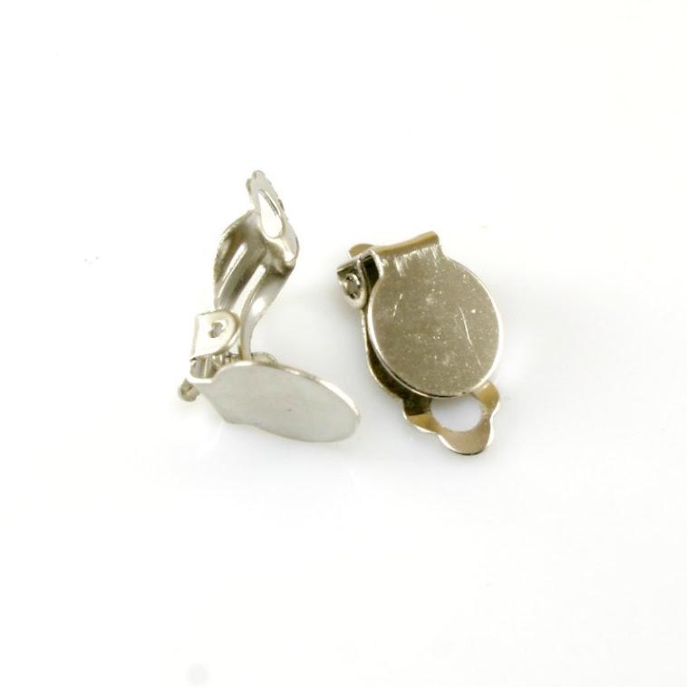 Klipsy na náušnice stříbrné barvy 9cde4b0ab15