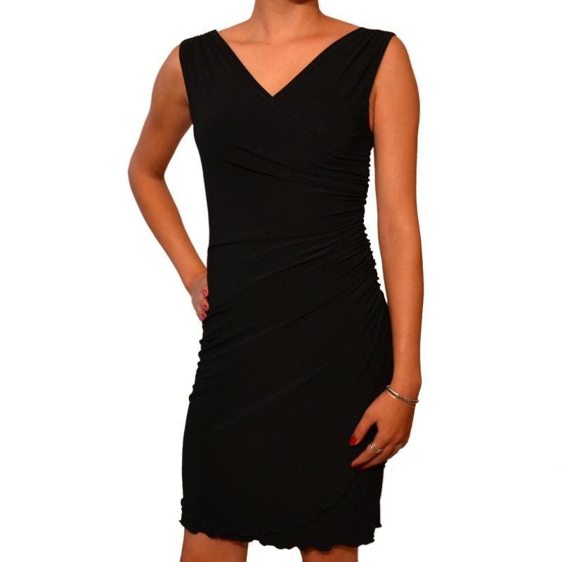 Černé koktejlové šaty s řasením vel. 36 až 48   Zboží prodejce ... d5707ab2e4