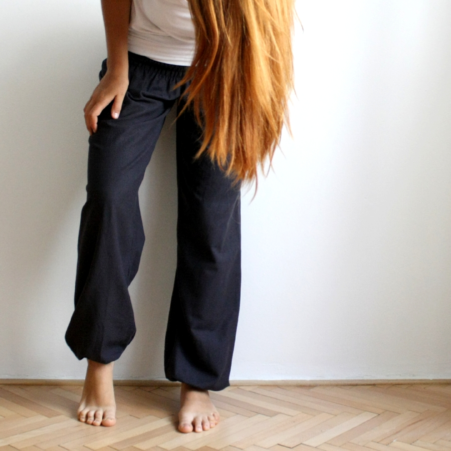 Žabkové harémovky - lněné tlumené  ) 7 variant (- široké nohavice)   Zboží  prodejce Natyris  03ebf1a1c8