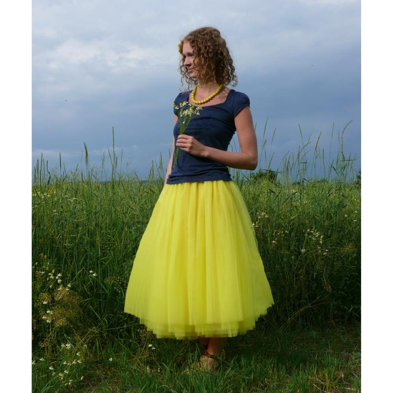 Žlutá tylová sukně   Zboží prodejce Princezna Pampeliška  c14b617137