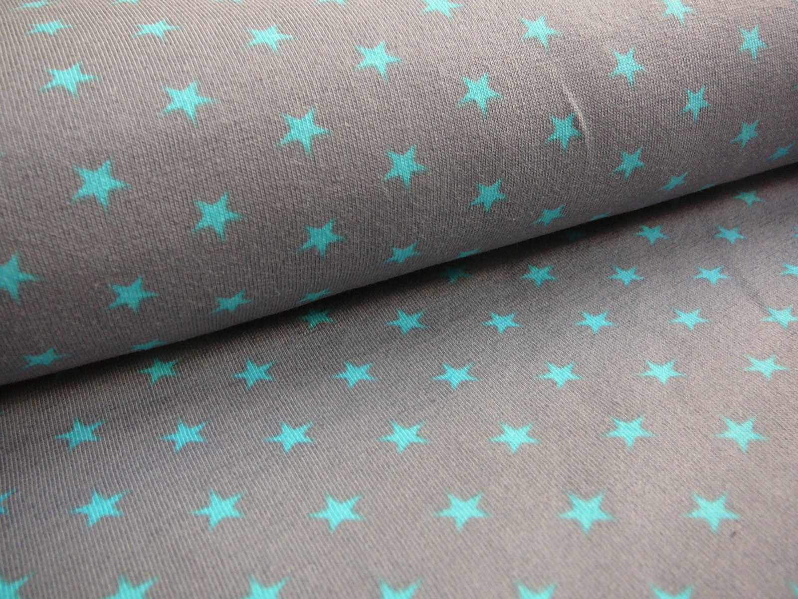 bavlněný úplet-tyrkysové hvězdičky-posledních 95cm   Zboží prodejce ... ff244f79a4
