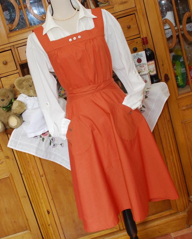 Cihlové retro zavinovací šaty z bio bavlny   Zboží prodejce ... 494b8c4698