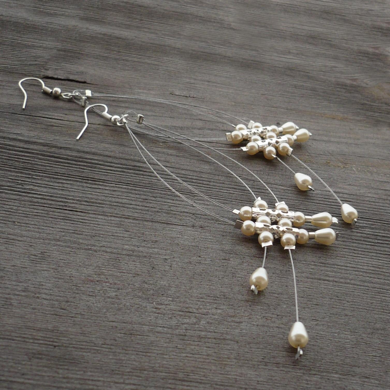 ebaab13c5de Krémové dešťové náhrdelníčky do oušek II.   Zboží prodejce kakafuna ...