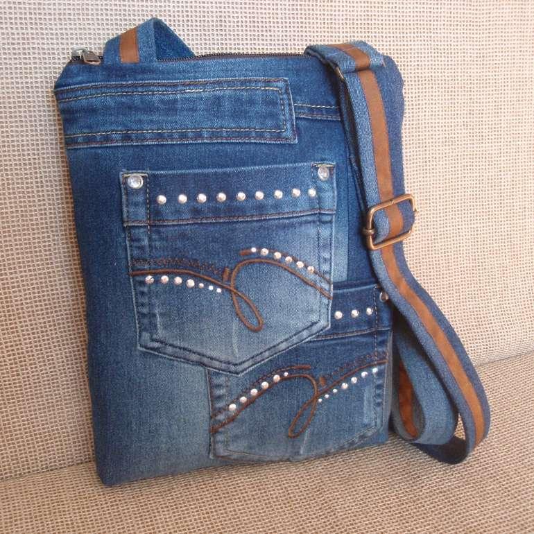Džínová kabelka malá - 4   Zboží prodejce INDIGO13  046792025af