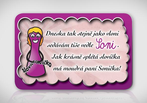 přání k svátku soňa Poetická magnetka se jménem Soňa / Zboží prodejce bukaj.design  přání k svátku soňa