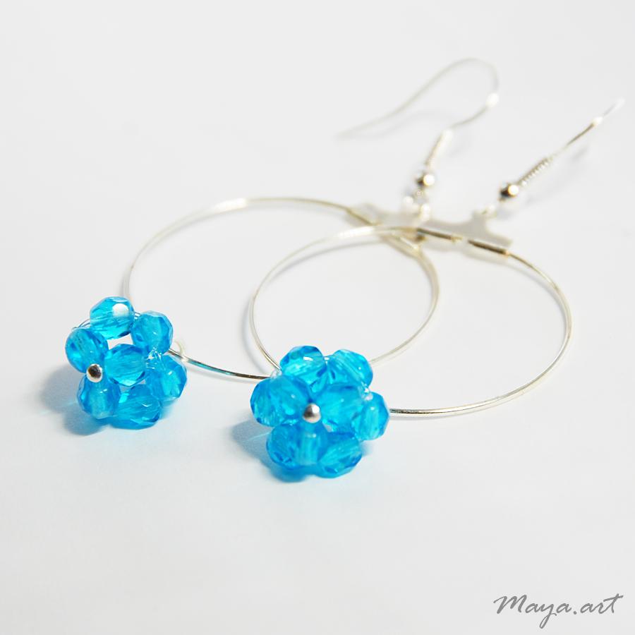 Modré kruhové náušnice s kuličkou - SLEVA ze 111!   Zboží prodejce ... fe8b40caffb
