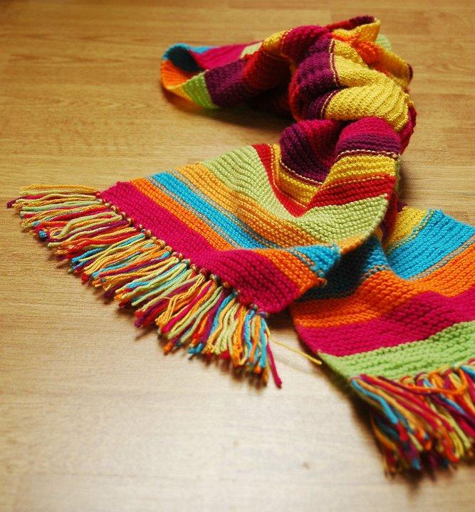 f6a903993ff Barevná pletená šála SLEVA z 355 Kč   Zboží prodejce klara.kv