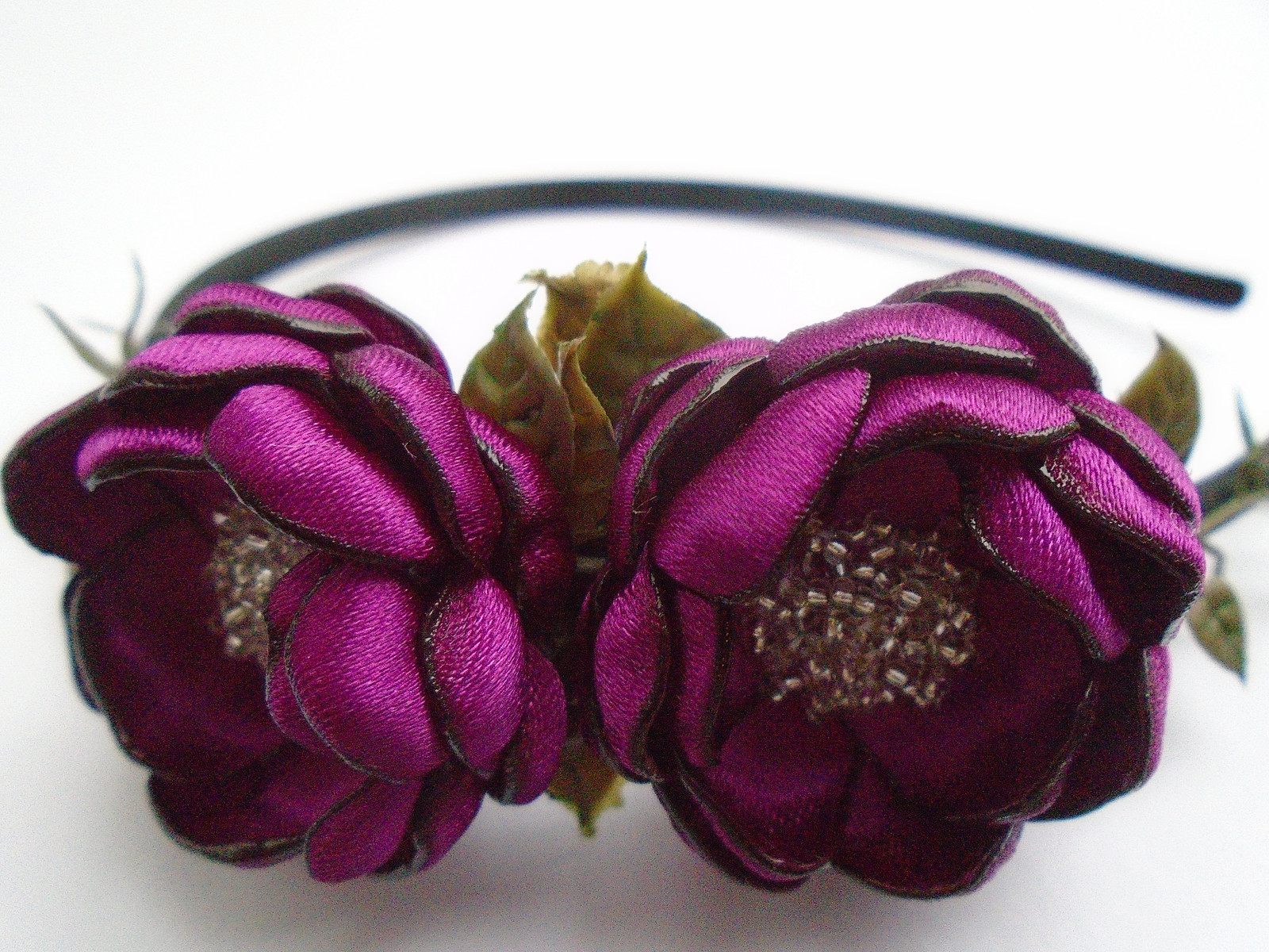 b8e3da96e28 Květinové čelenky - fialová   Zboží prodejce Holečkovic