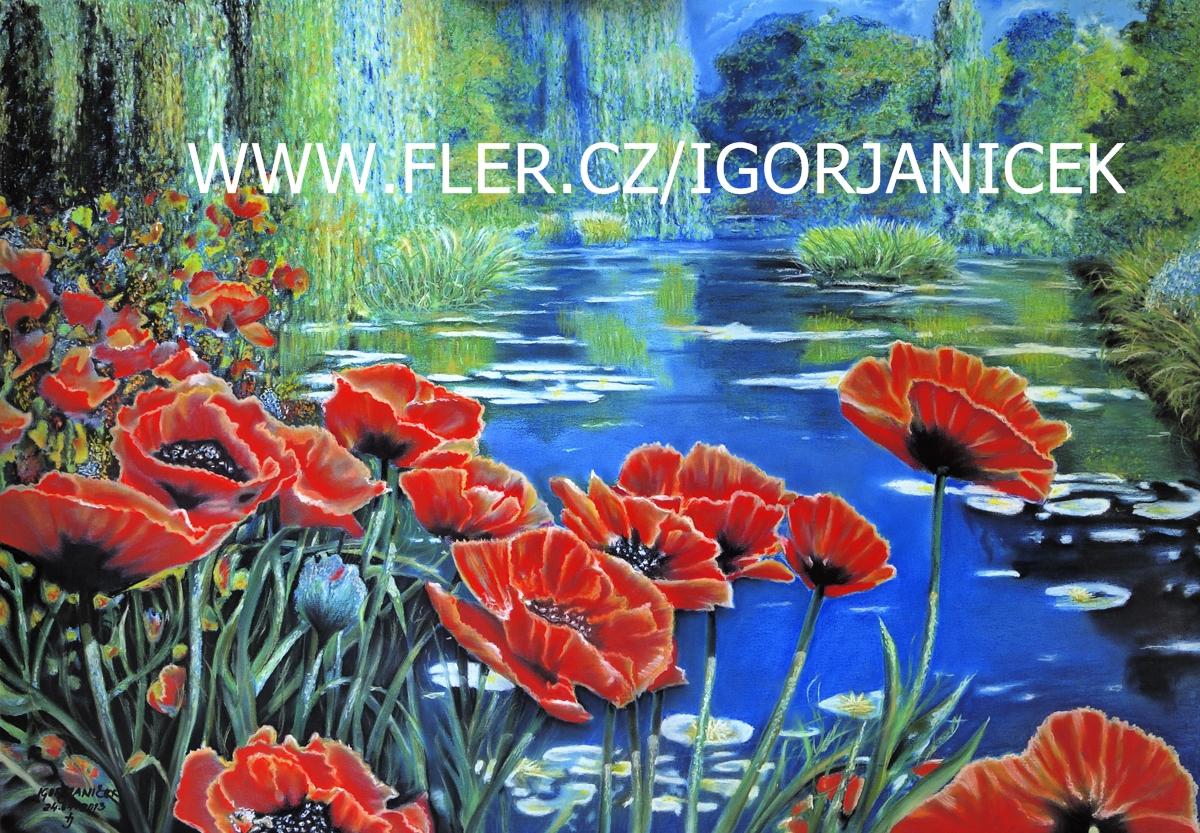 Monetova Zahrada Kresba Pastelem 100x70cm Zbozi Prodejce