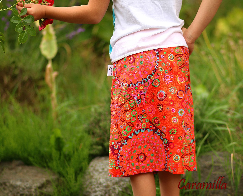 8a2edfcb01fe Sukně ke kolenům oranžové mandaly - dětská   Zboží prodejce ...