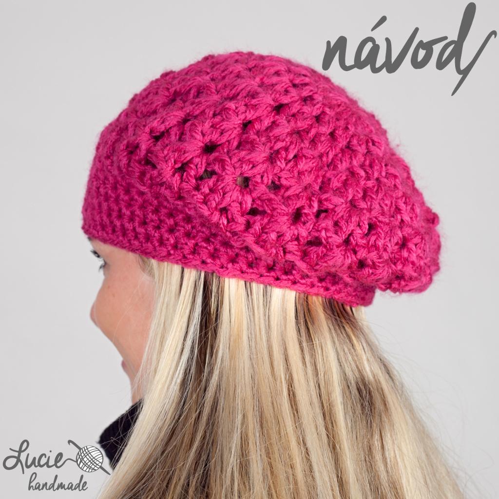 b4740542e NÁVOD č.17...dámská baretka / Zboží prodejce Lucie handmade | Fler.cz