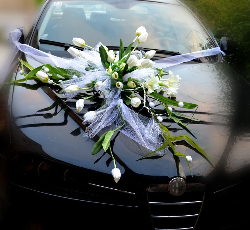 Svatebni Dekorace Na Auto Tulipany Bile Zbozi Prodejce Kultdesign