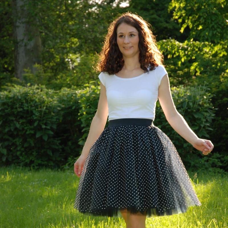 Puntíkovaná černá tylová sukně-SKLADEM   Zboží prodejce Princezna ... ec273e6ad1