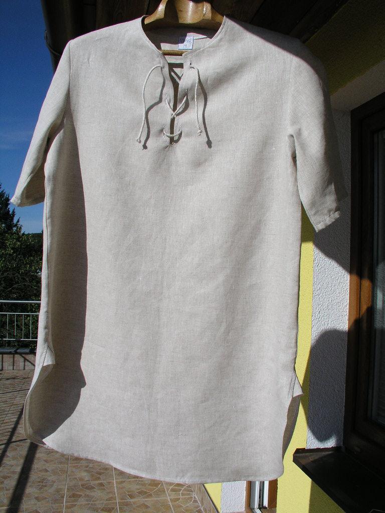 Pánská noční košile ze 100% lnu S - M   Zboží prodejce dolna-eco ... 24575ae1f9