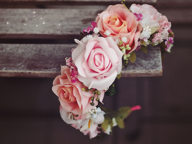 3a190ff296d květinová čelenka s růžemi (parta)   Zboží prodejce jitkita