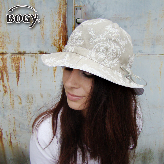 letní plátěný klobouk Pampalíny s vintage vzorem (obvod 54-57cm - výroba)    Zboží prodejce BOGY - Janečková Petra  bf2cc525ae