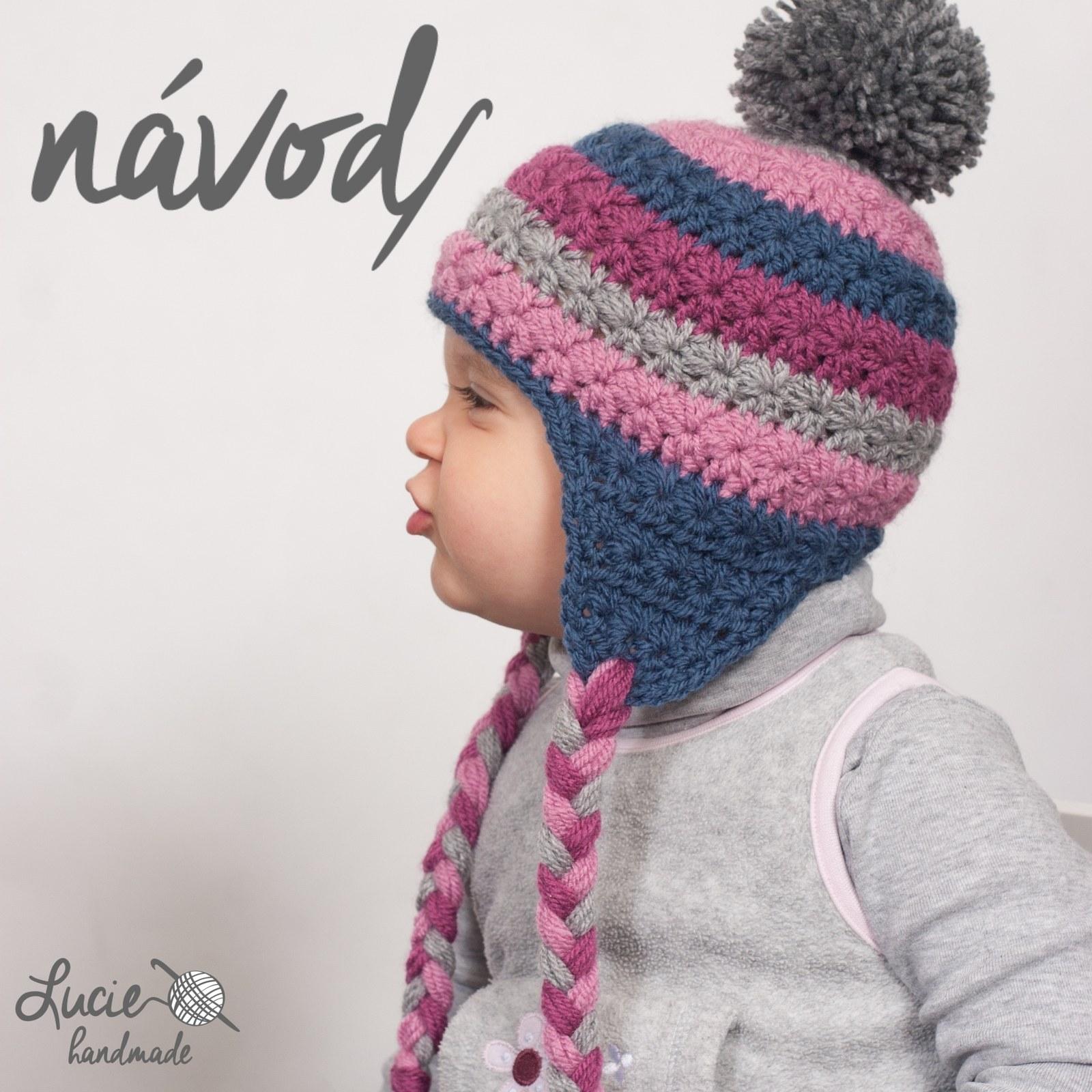 ff4e4e46f1b NÁVOD č.19   na zimní ušanku   Zboží prodejce Lucie handmade