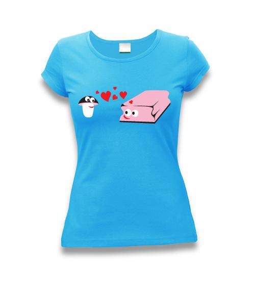 Zamilované houbičky - dámské tričko s potiskem   Zboží prodejce ... 76085078ee