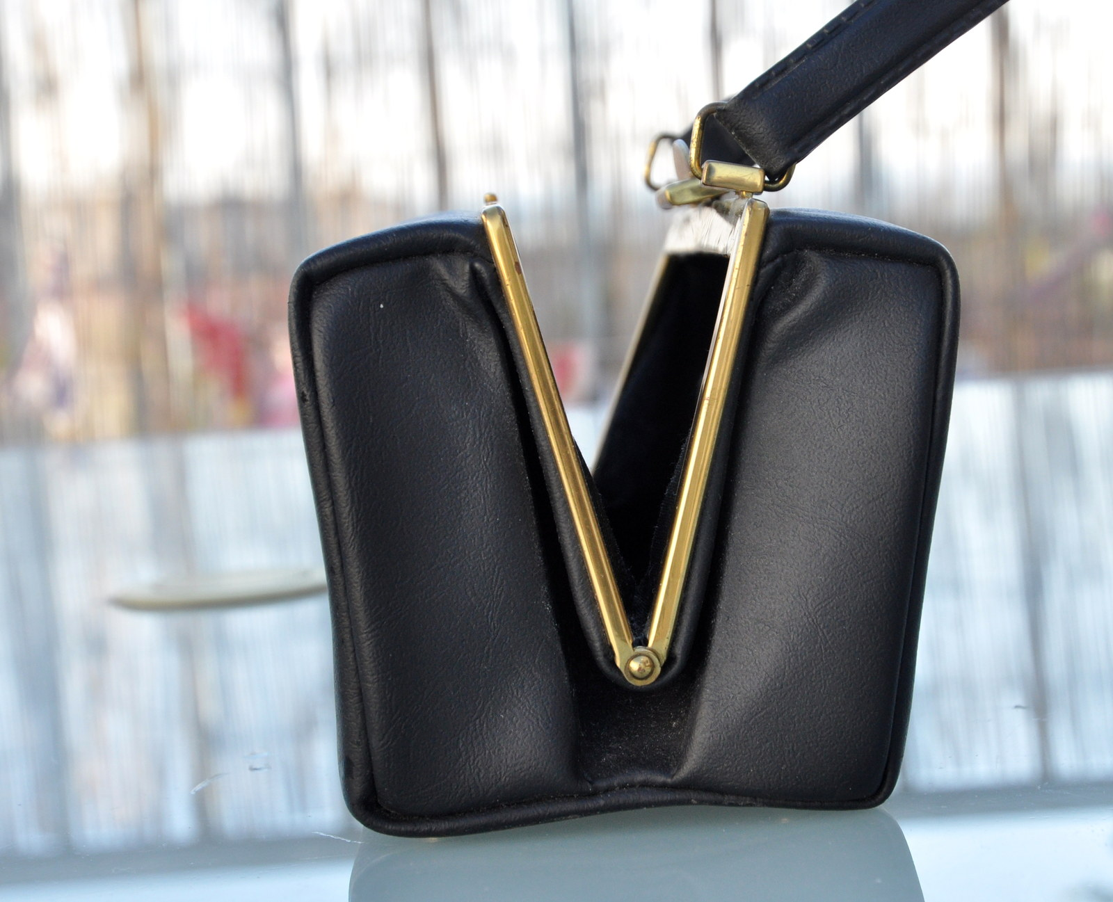 Černá kufříková kabelka   Zboží prodejce Chala Retro  4b174390d06