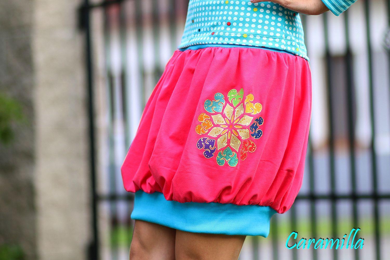 fb3cf99524ee Balonová sukně s RUČNÍ MALBOU   Zboží prodejce Caramilla