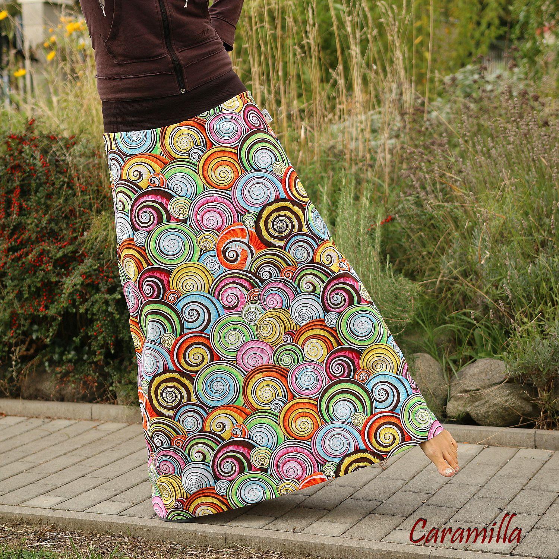 750a92e027c Dlouhá sukně NA VLNÁCH - barevná (i těhu)   Zboží prodejce Caramilla ...