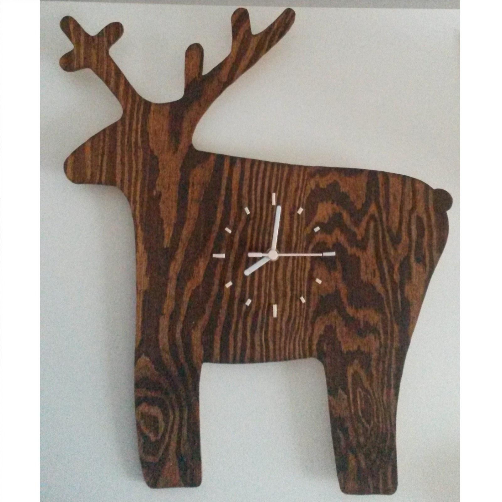 Jelen - dřevěné nástěnné hodiny   Zboží prodejce pajel  496bbbef6cd