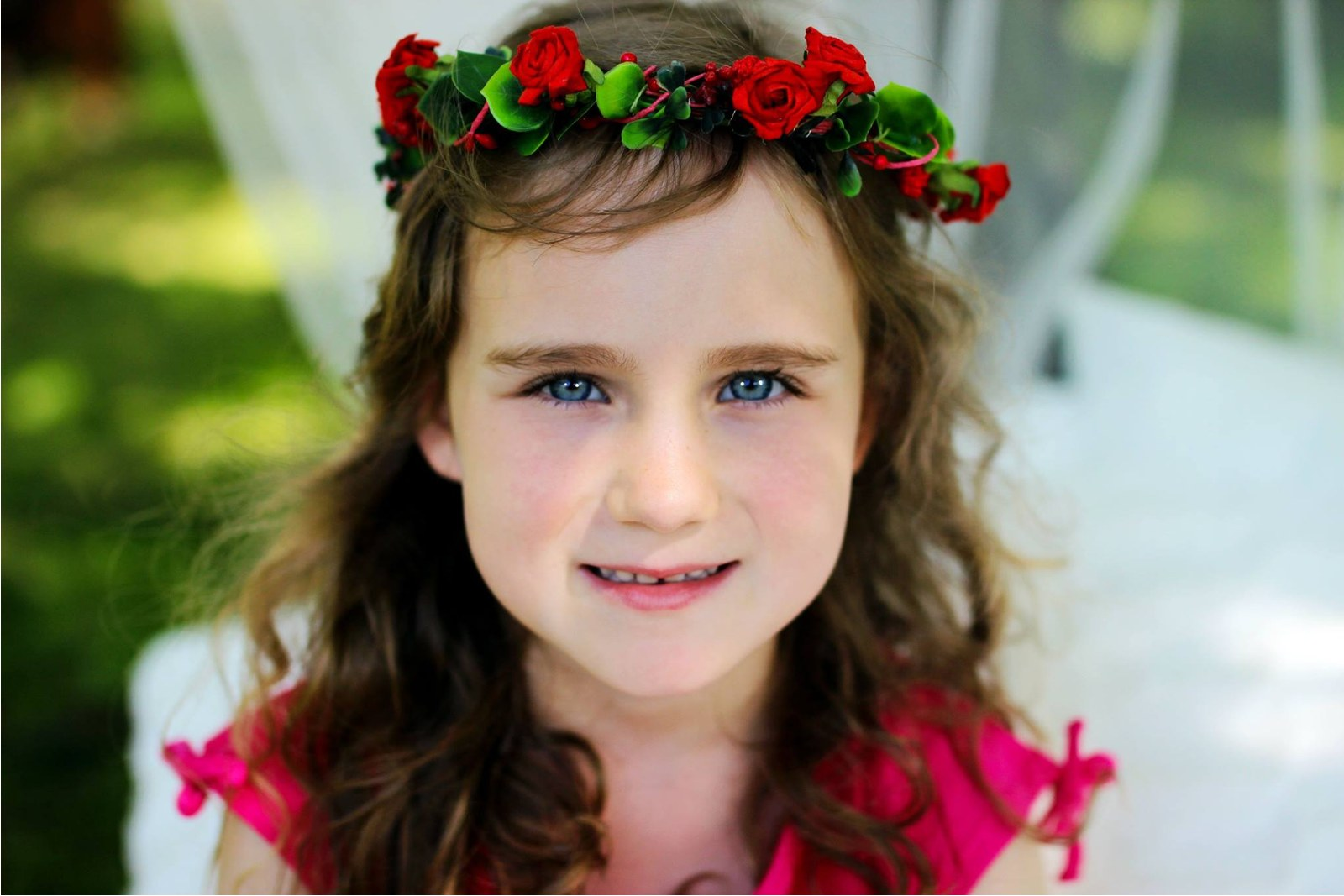 červený věneček do vlasů   Zboží prodejce hanacha  3943824839