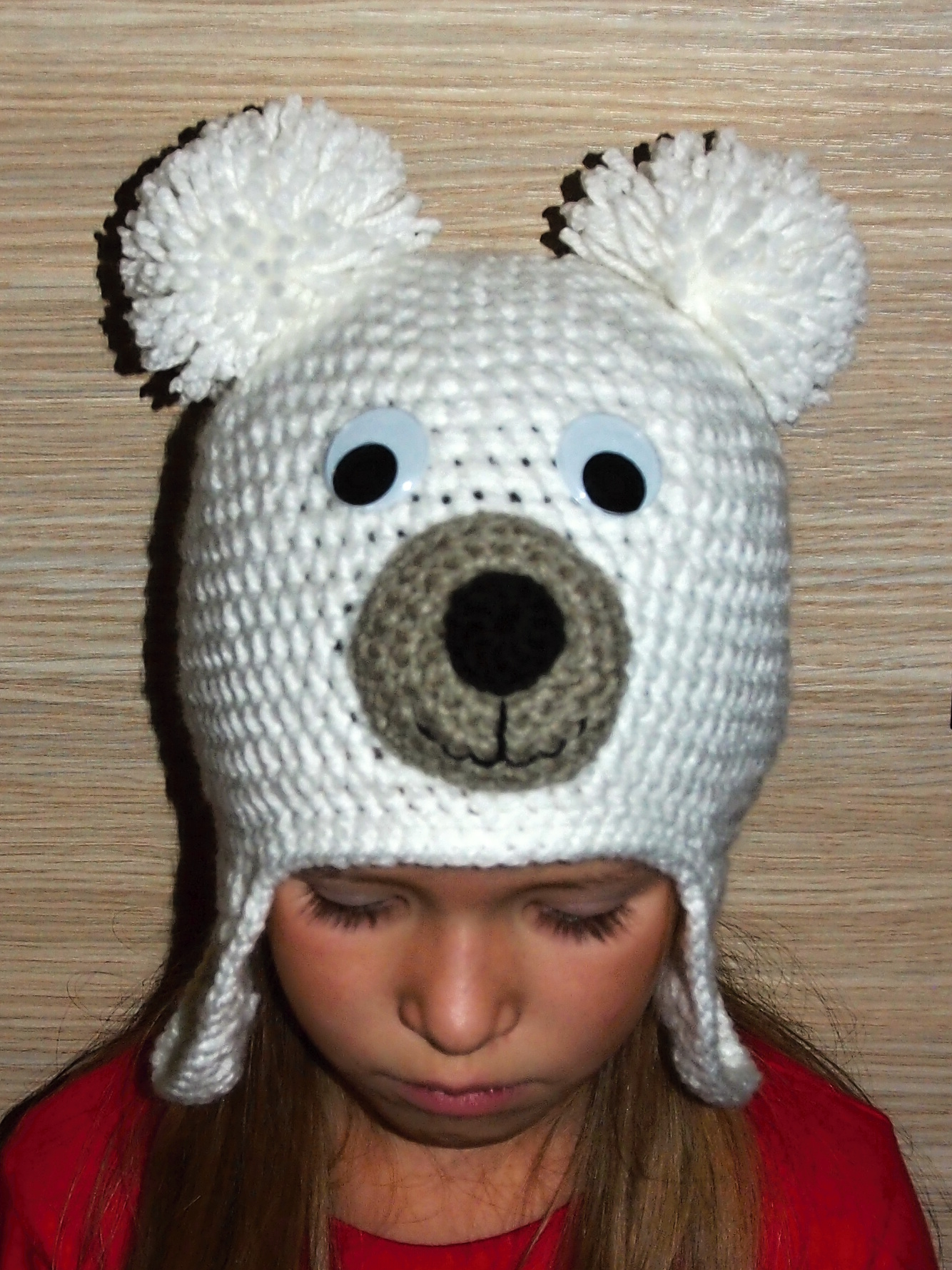 b1a1b400e41 Háčkovaná čepice lední medvídek (Podšitá fleecem)   Zboží prodejce stolicna