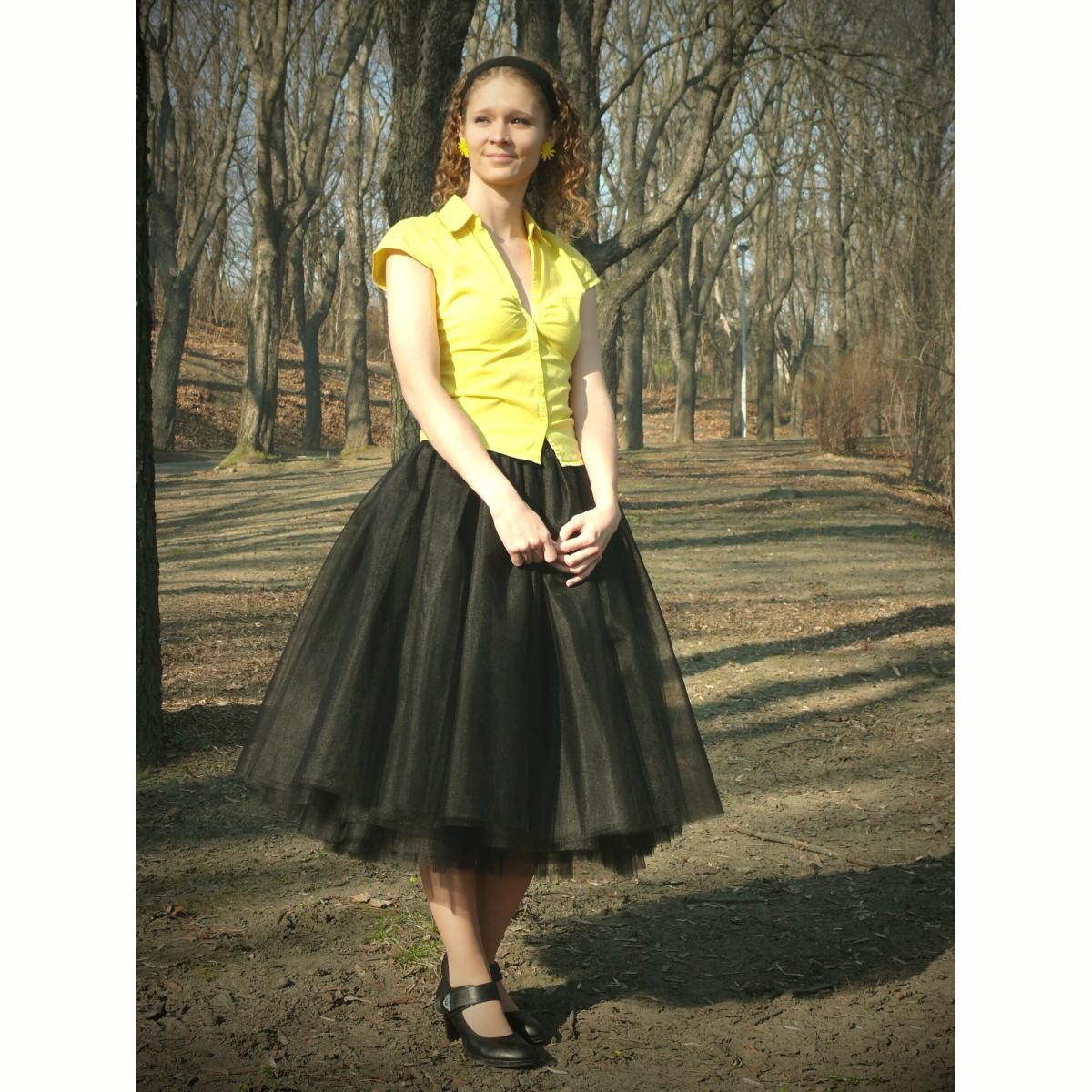 Černá tylová sukně   Zboží prodejce Princezna Pampeliška  97cec67372