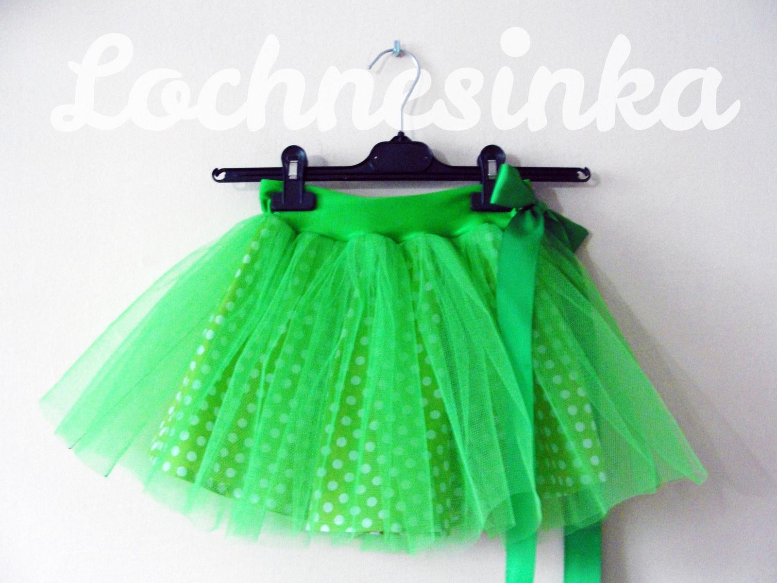 e637ca4329b Tylová sukýnka zelená dětská   Zboží prodejce Lochnesinka