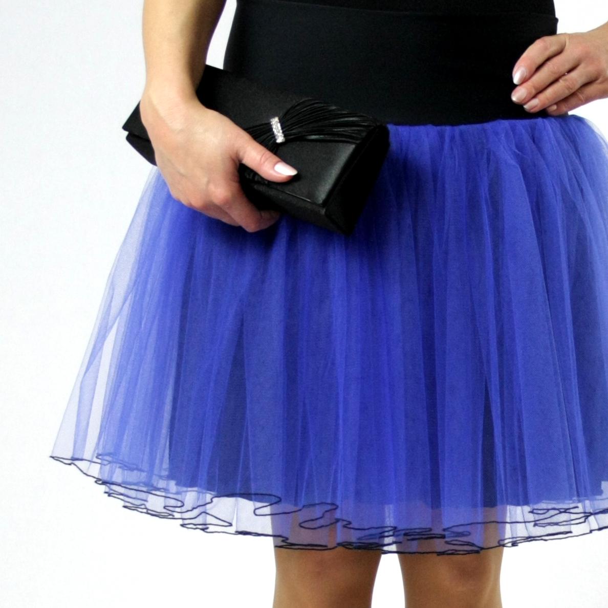 3bd06926110 Tylová sukně černá   modrá (délka 50 cm + 10 cm pas)   Zboží prodejce  Debonaire