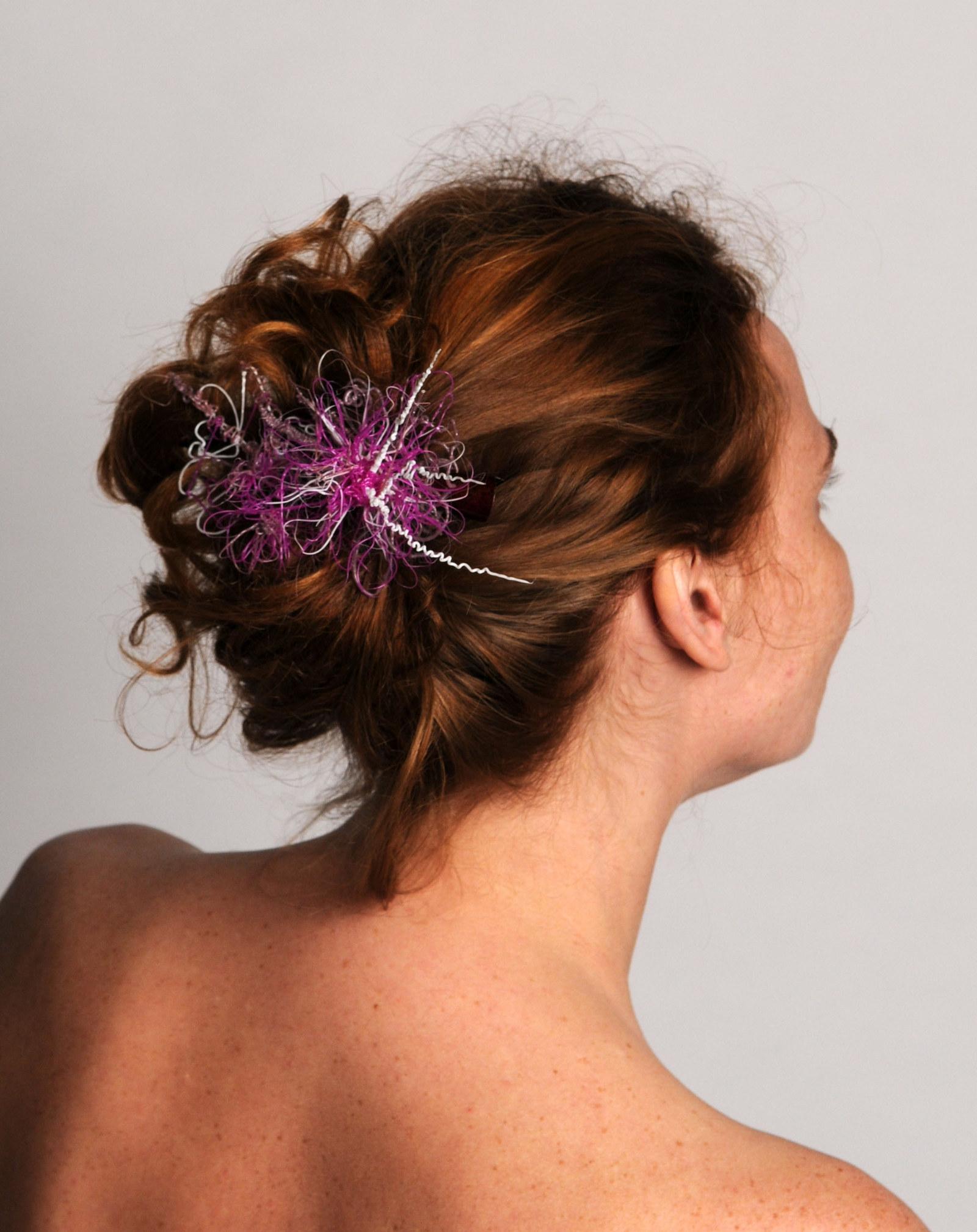 Spona do vlasů Botaniculus - Fialová sasanka   Zboží prodejce MKS ... d295029724