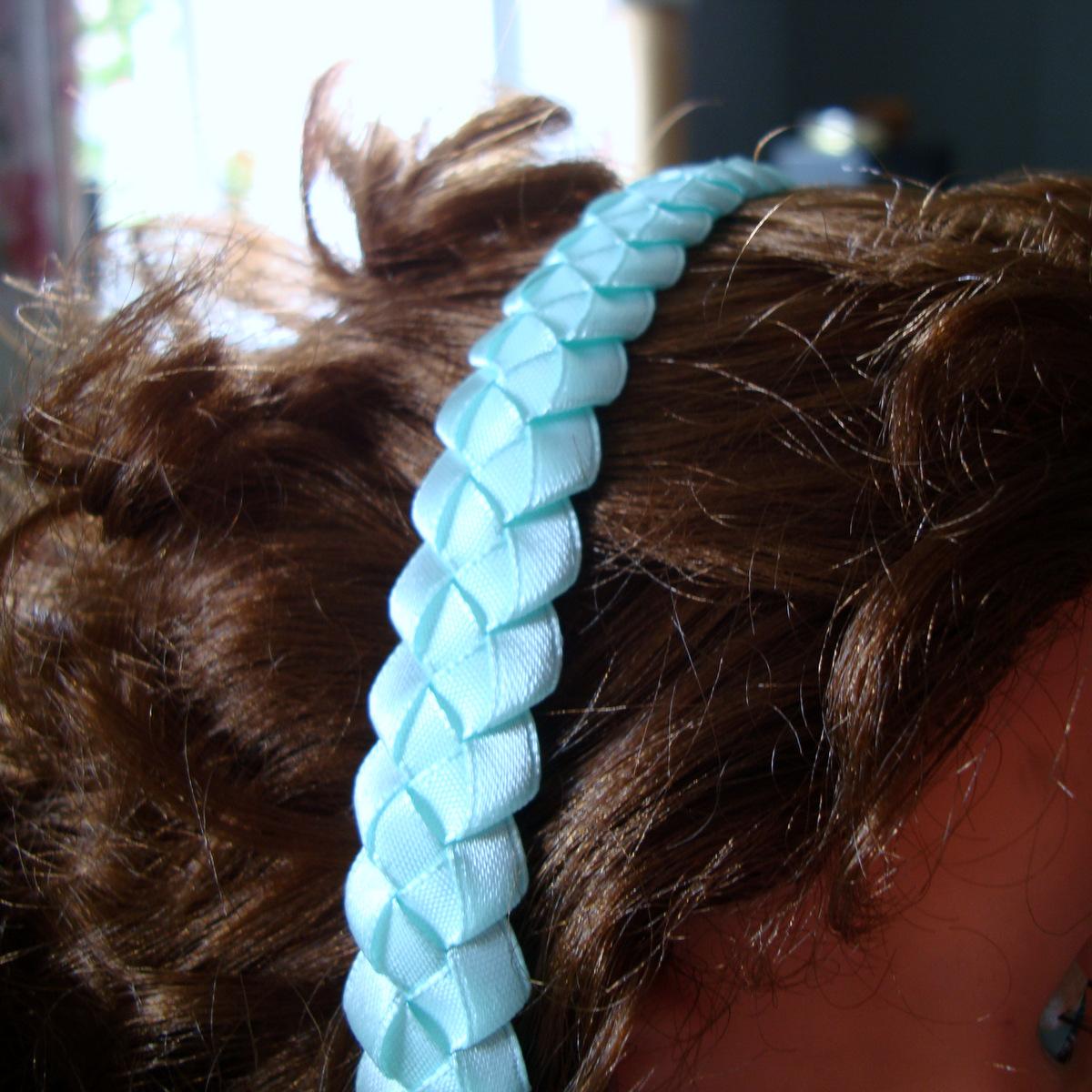 f1b42f33a14 čelenka do vlasů - světlý tyrkys   Zboží prodejce modrá hortenzie ...