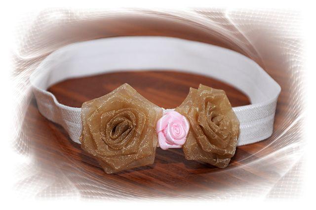 111bb3e3dfa čelenka - krémová růže mašle   Zboží prodejce U Klárky