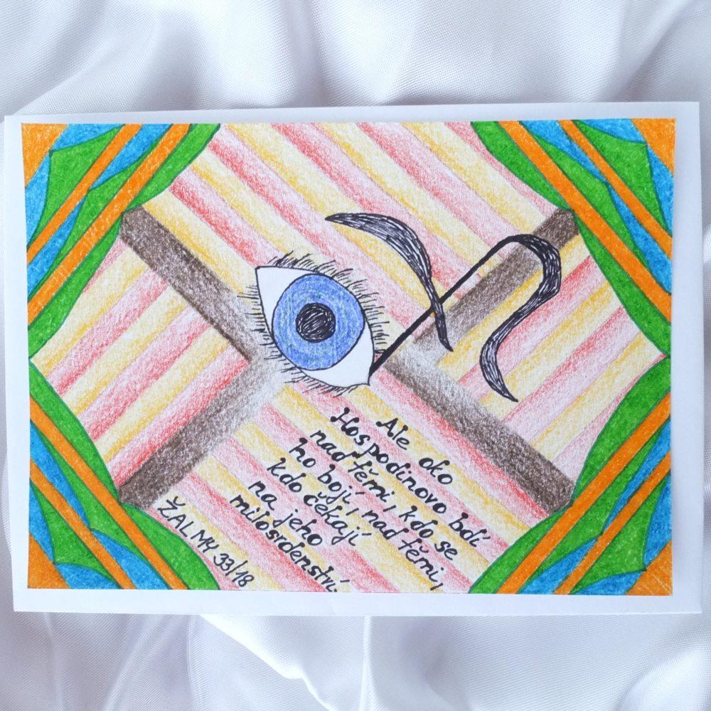 Autorska Kreslena Pohlednice S Citaty Z Bible C 1 Zbozi Prodejce