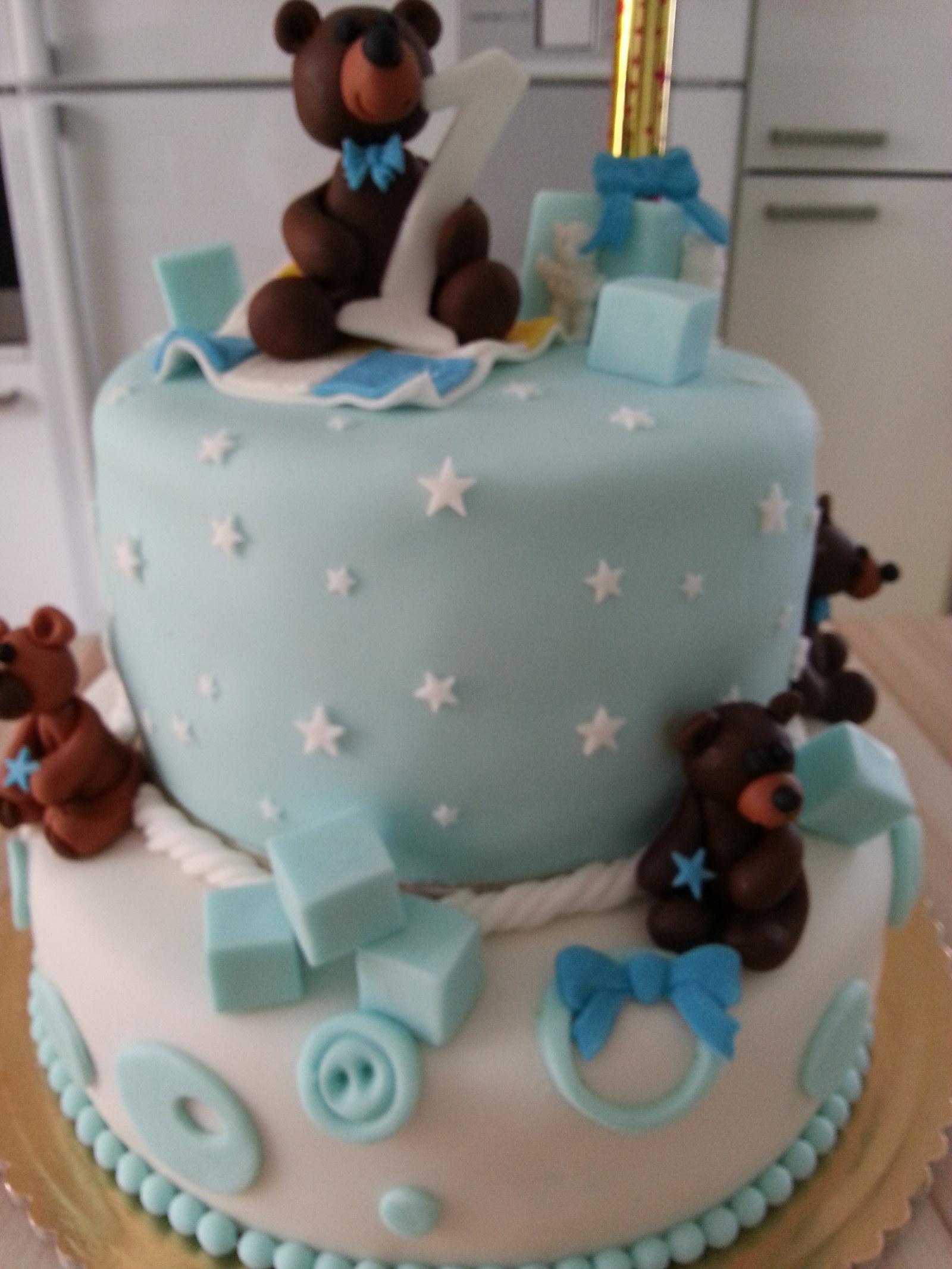 dort k 1 narozeninám Medvídkový dort k 1. narozeninám. / Zboží prodejce žirafa186  dort k 1 narozeninám