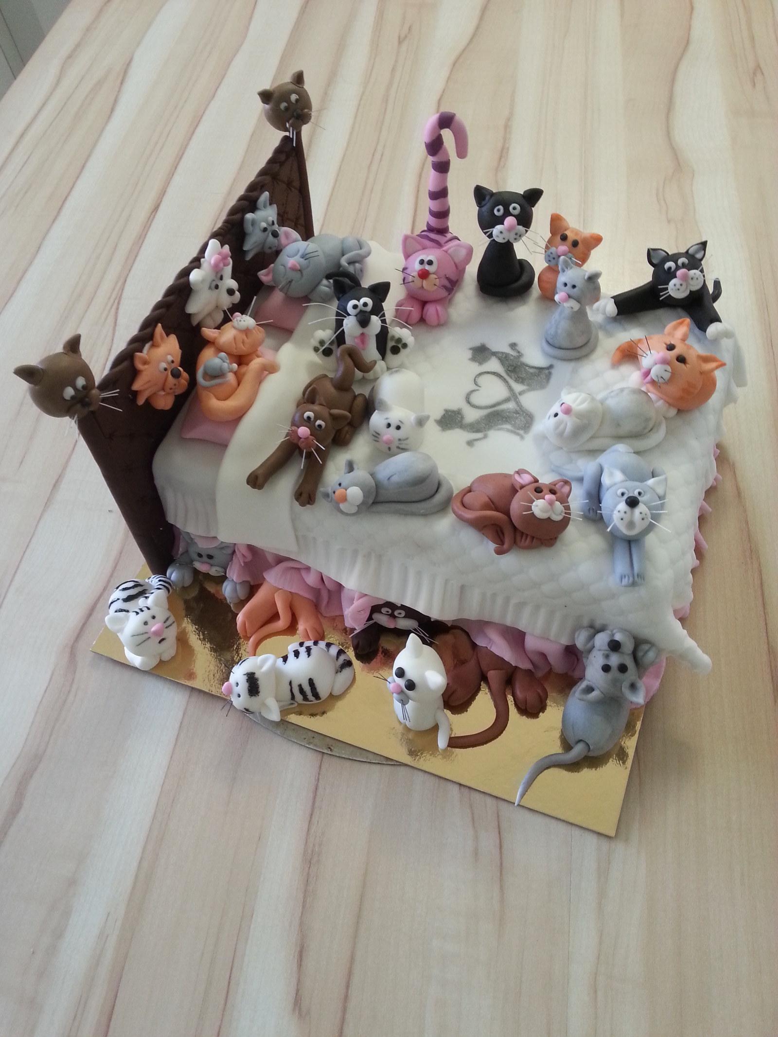dort k 30 narozeninám Kočičí dort. s 30 kočičkami k 30 narozeninám / Zboží  dort k 30 narozeninám