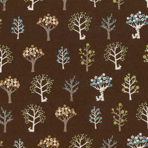 6d5f625523e5 Japonská bavlnená látka  Tree Brown   Zboží prodejce Modern ...
